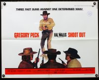 0634FF SHOOT OUT 1/2sh '71 great full-length image of gunfighter Gregory Peck facing down three men!