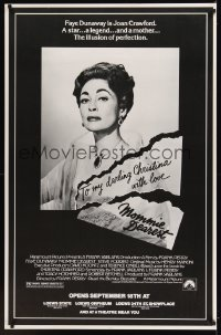 0272UF MOMMIE DEAREST half subway '81 great portrait of Faye Dunaway as Joan Crawford!