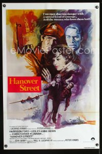 0708FF HANOVER STREET int'l 1sh '79 completely different artwork of Harrison Ford & Lesley-Anne Down