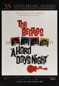 0179UF HARD DAY'S NIGHT advance 1sh R99 great image of The Beatles, rock & roll classic!