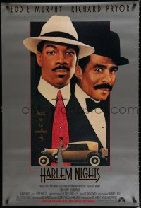 1575UF HARLEM NIGHTS advance 1sh '89 great Steven Chorney art of Eddie Murphy & Richard Pryor!