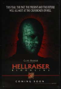 0187UF HELLRAISER: BLOODLINE DS teaser 1sh '96 Clive Barker, Pinhead at the crossroads of hell!
