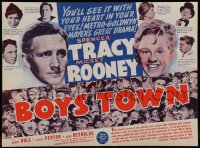 2452 BOYS TOWN herald '38 Spencer Tracy as Father Flanagan with Mickey Rooney, MGM classic!