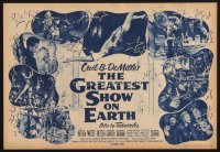 1259 GREATEST SHOW ON EARTH herald '52 Cecil B. DeMille classic,Charlton Heston, James Stewart
