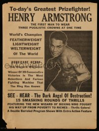 2454 HENRY ARMSTRONG herald '40s The Dark Angel of Destruction, world champion boxing!