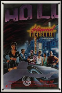 0950TF HOLLYWOOD VICE SQUAD 1sh '86 It's a long way from Miami, art by Dellorco!