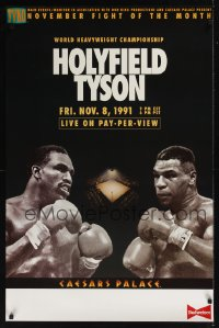 0196UF HOLYFIELD VS TYSON 11-08-91 1sh Heavyweight Championship boxing, the fight that never was!