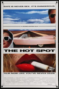 2171UF HOT SPOT DS 1sh '90 cool close up smoking & Cadillac image, directed by Dennis Hopper!