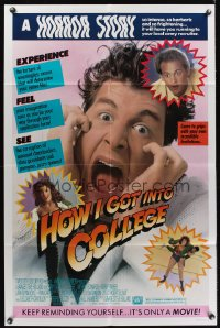 0958FF HOW I GOT INTO COLLEGE 1sh '89 Anthony Edwards & young Lara Flynn Boyle, Savage Steve Holland