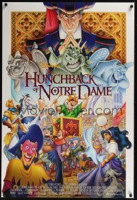 0205UF HUNCHBACK OF NOTRE DAME DS 1sh '96 Walt Disney cartoon from Victor Hugo's novel!