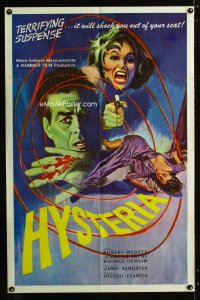 0719FF HYSTERIA  1sh '65 Robert Webber, Hammer horror, it will shock you out of your seat!
