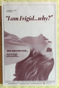 207TF I AM FRIGID... WHY? one-sheet '72 French sex!