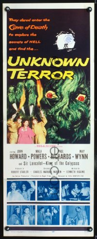 0653FF UNKNOWN TERROR insert '57 they dared enter the Cave of Death and explore the secrets of HELL!