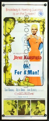 0655FF WILL SUCCESS SPOIL ROCK HUNTER insert '57 art of super sexy Jayne Mansfield on phone!