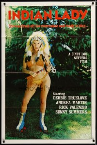 1422TF INDIAN LADY 1sh '81 Ray Dennis Steckler, wacky Native American girl in roller skates!