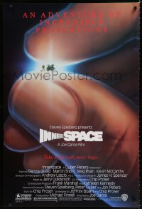 1586UF INNERSPACE 1sh '87 Dennis Quaid, Martin Short, Alvin art of tiny ship & giant hand!