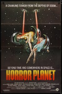 1423TF INSEMINOID 1sh R83 Horror Planet, really wild sci-fi image of sexy girls in monster hand!