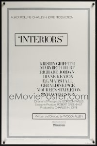 0213UF INTERIORS style A 1sh '78 Woody Allen, Diane Keaton, Mary Beth Hurt, Kristin Griffith
