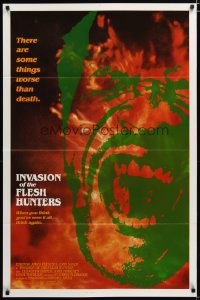 1426TF INVASION OF THE FLESH HUNTERS 1sh R83 Margheriti, there are some things worse than death!
