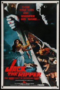 2198FF JACK THE RIPPER 1sh '79 Jess Franco, Klaus Kinski, cool sexy horror art by Copeland!