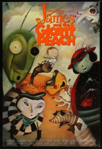 1587UF JAMES & THE GIANT PEACH 1sh '96 Disney fantasy cartoon, Lane Smith art of cast!