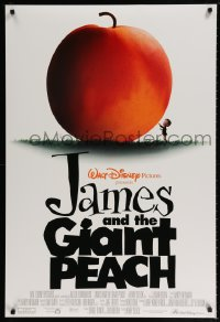 2201UF JAMES & THE GIANT PEACH DS peach style 1sh '96 Disney stop-motion animation fantasy cartoon!