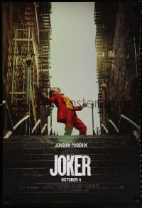2679UF JOKER teaser DS 1sh 2019 Joaquin Phoenix as the DC Comics villain at the top of the stairs!