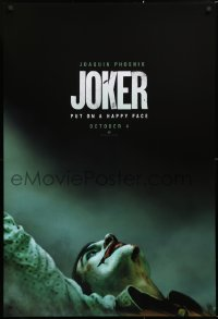 2676UF JOKER teaser DS 1sh 2019 great image of Joaquin Phoenix as the DC Comics villain!