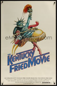 0229UF KENTUCKY FRIED MOVIE 1sh '77 John Landis directed comedy, wacky tennis shoe art!