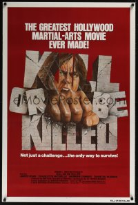 0234UF KILL OR BE KILLED 1sh '76 great image of man punching through brick title!