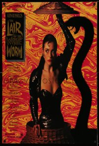 2221UF LAIR OF THE WHITE WORM 1sh '88 Ken Russell, image of sexy Amanda Donohoe with snake shadow!