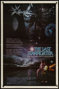 1297FF LAST STARFIGHTER 1sh '84 Catherine Mary Stewart & Lance Guest as video game pilot!
