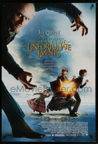 2233UF LEMONY SNICKET'S A SERIES OF UNFORTUNATE EVENTS advance DS 1sh '04 Jim Carrey, mishaps,mayhem