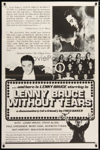 1434TF LENNY BRUCE WITHOUT TEARS 1sh '75 documentary great American satirist!
