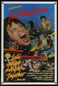0981FF LET'S SPEND THE NIGHT TOGETHER 1sh '83 great image of Mick Jagger and The Rolling Stones!