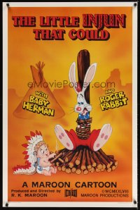 1595UF LITTLE INJUN THAT COULD Kilian 1sh '88 great Roger Rabbit & Baby Herman cartoon art!