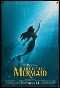 2238UF LITTLE MERMAID advance DS 1sh R98 Ariel swimming to the surface, Disney underwater cartoon!