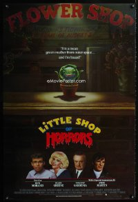 0728UF LITTLE SHOP OF HORRORS int'l advance 1sh '86 mean green muther from outer space & he's bad