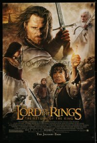 2242UF LORD OF THE RINGS: THE RETURN OF THE KING advance 1sh '03 Peter Jackson, cast montage art!