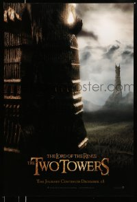 2243UF LORD OF THE RINGS: THE TWO TOWERS teaser 1sh '02 Peter Jackson & J.R.R. Tolkien epic!
