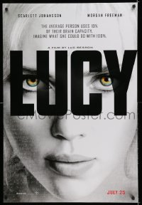 2245UF LUCY DS teaser 1sh '14 super close up of sexy Scarlett Johansson in the title role!