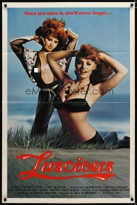 1438TF LUSCIOUS 1sh '80 Samantha Fox & Lisa DeLeeux are sexy redheads, x-rated!