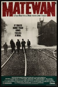 1598UF MATEWAN 1sh '87 James Earl Jones, John Sayles, it takes more than guns to kill a man!