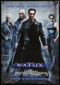 1599UF MATRIX Sonis REPRO advance 1sh '99 Keanu Reeves, Carrie-Anne Moss, Fishburne, Wachowski