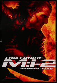2265UF MISSION IMPOSSIBLE 2 teaser DS 1sh '00 super c/u of Tom Cruise, sequel directed by John Woo!