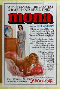 273FF MONA/SCHOOL GIRL one-sheet '70s sexploitation!