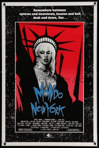 2268UF MONDO NEW YORK 1sh '88 art of punk rock Statue of Liberty on red background, cult classic!