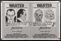 2272UF MONSTER SQUAD advance 1sh '87 wacky wanted poster mugshot images of Dracula & the Mummy!