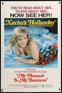1442TF MY PLEASURE IS MY BUSINESS 1sh '74 sexy Xaviera Hollander, authoress of Happy Hooker!