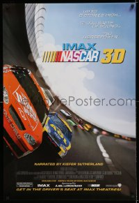 2284UF NASCAR 3D DS 1sh '04 cool image of NASCAR stock cars racing down speedway!